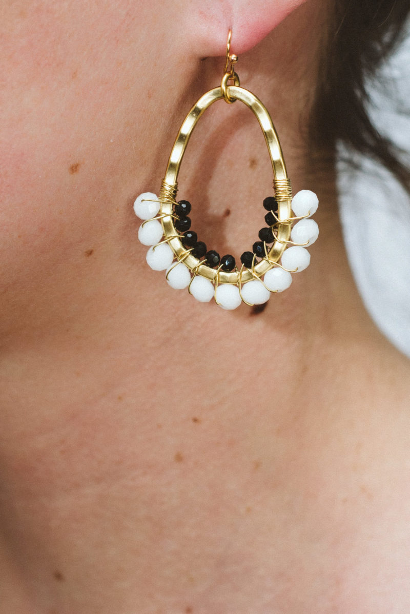 Oval Earring White,design,local,stylish,fashion