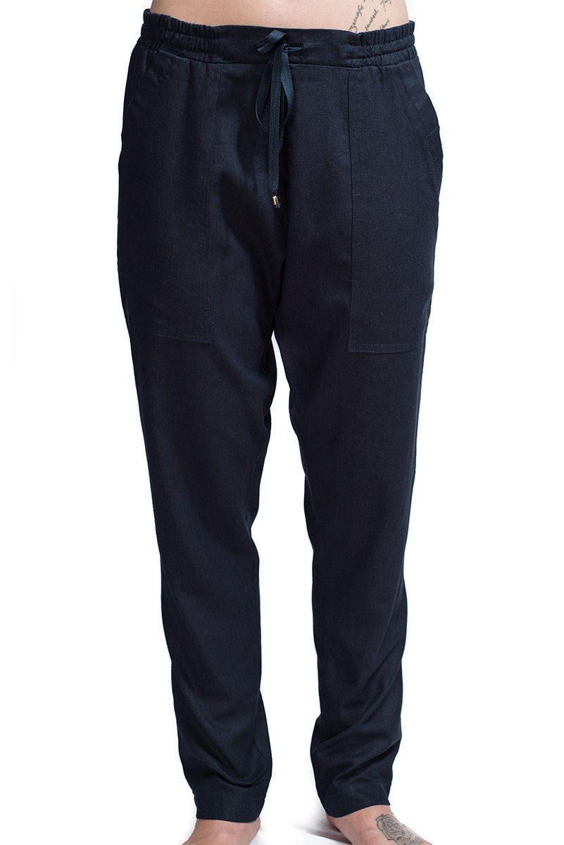 Harley Trouser Navy F2,pants,trousers,women,designer,linen,handmade,southafrican,boutique