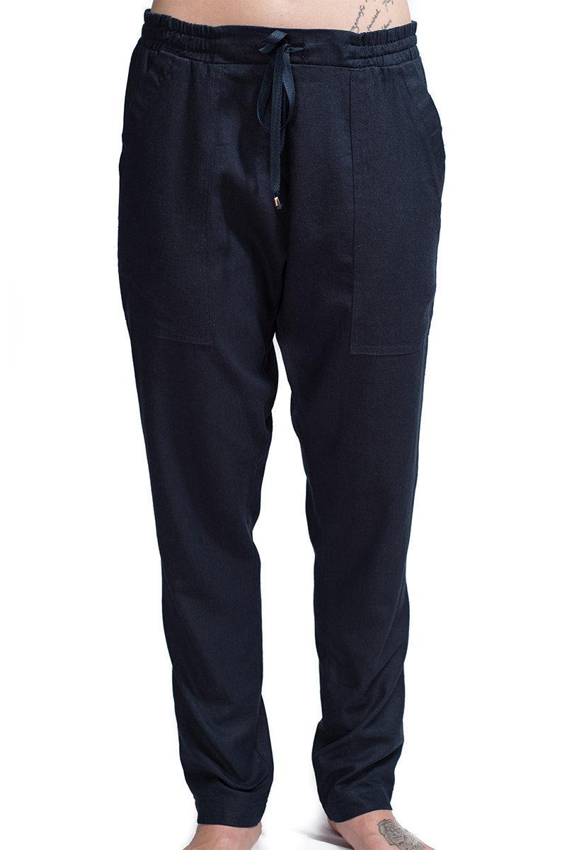 Harley Trouser Navy F2,pants,trousers,women,designer,linen,handmade,southafrican,boutique
