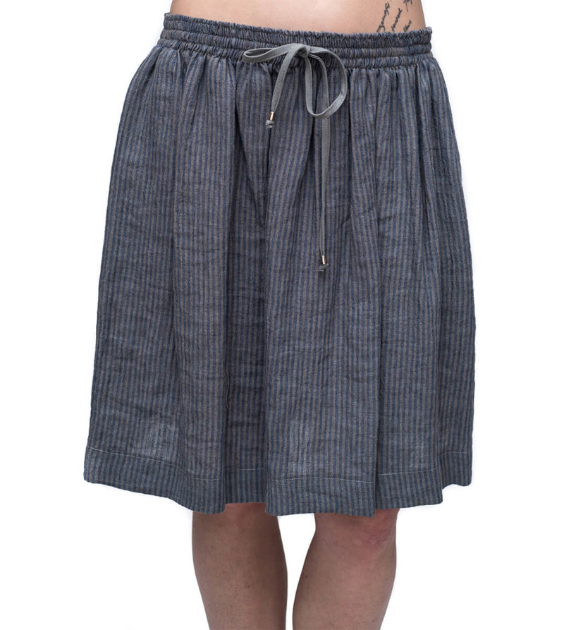 Eves Grey Stripe Skirt F,womans,short,summer,pockets,drawstring