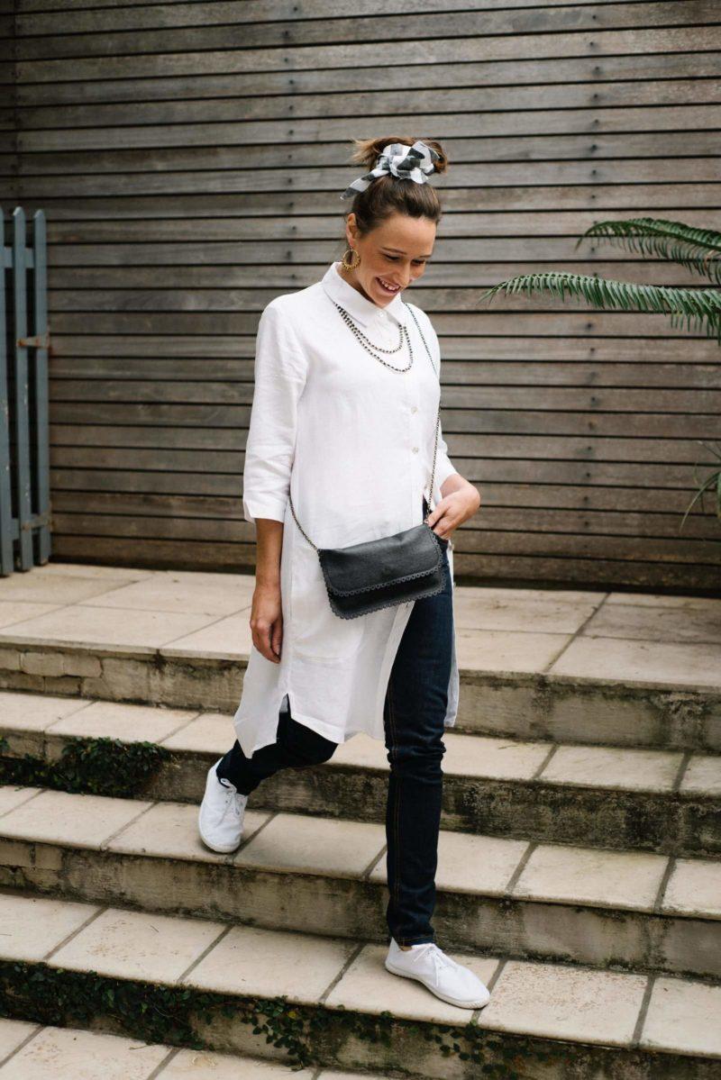 Nirvana White Linen Shirt Dress,shirt,dress,linen,handmade,designer,winter,online,boutique