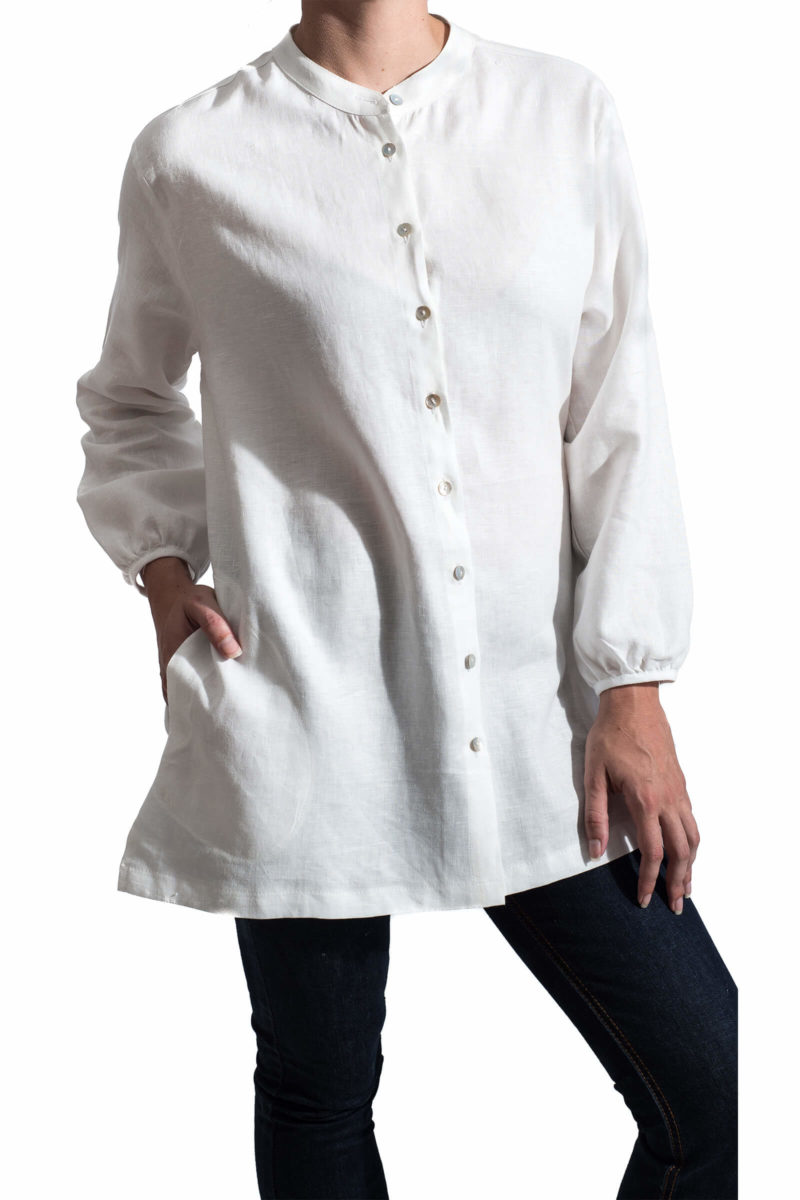 Sunday White Linen Shirt,women,shirt,linen,handmade,sunday,stylish,designer,clothing.online,boutique