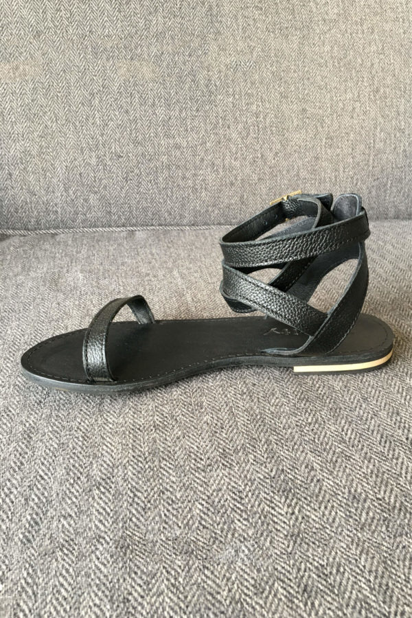Ava Black Leather Shoe,leather,sandle,summer,handmade,designer,online,southafrica,local (1)
