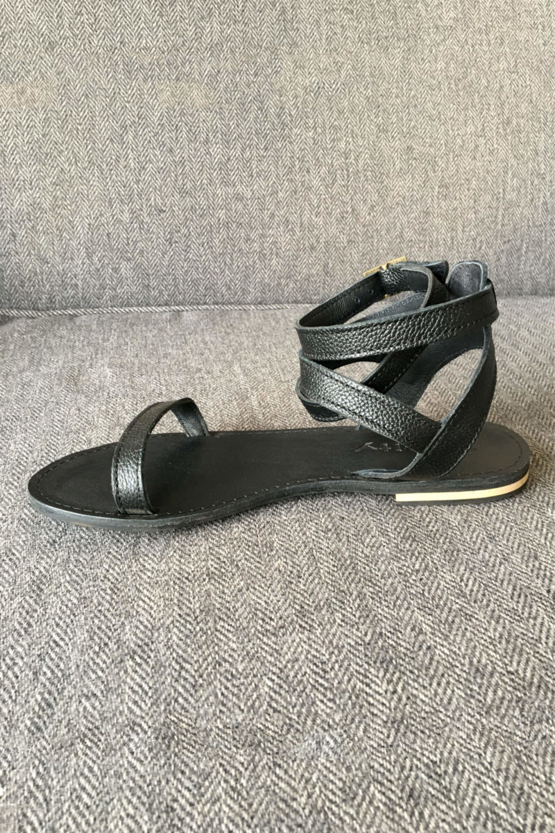 Ava Black Leather Shoe,leather,sandle,summer,handmade,designer,online,southafrica,local (1)