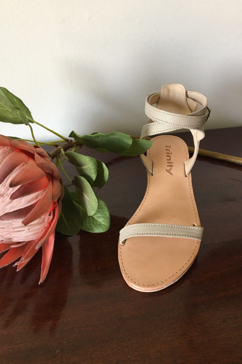 Shoes,sandals,leather,ankle straps, nude colour,ladies,local