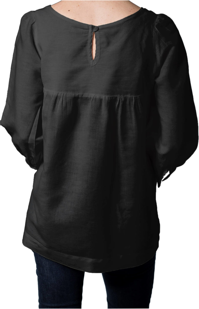 Trinity Black Linen Shirt,shirts,women,clothing,handmade,linen,stylish,designer