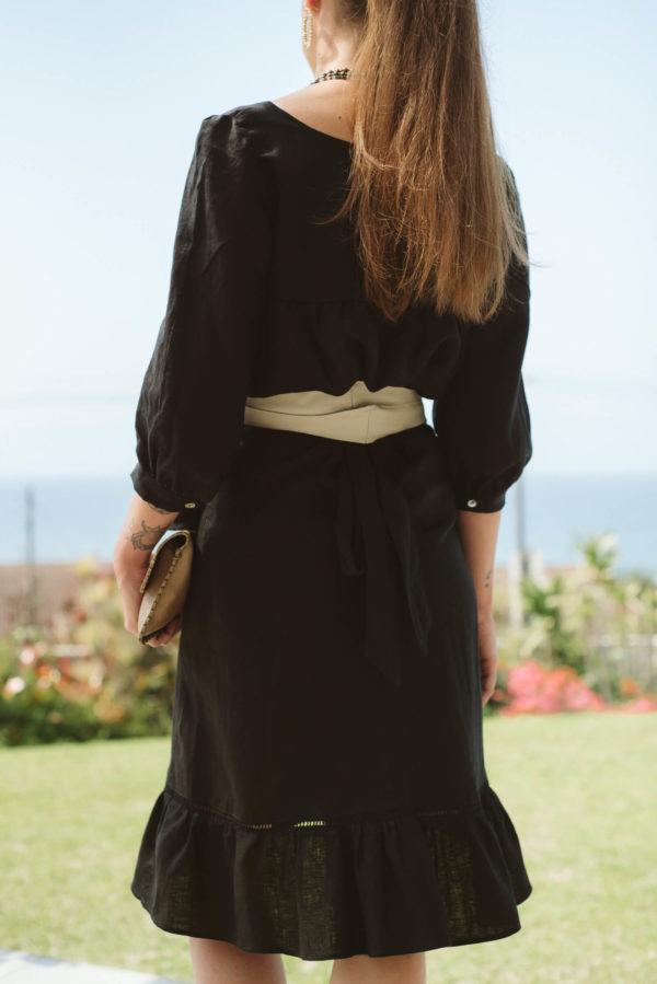 Bardot Black Linen Skirt,ladies,clothing,summer,linen,skirts,online,local,black (1)
