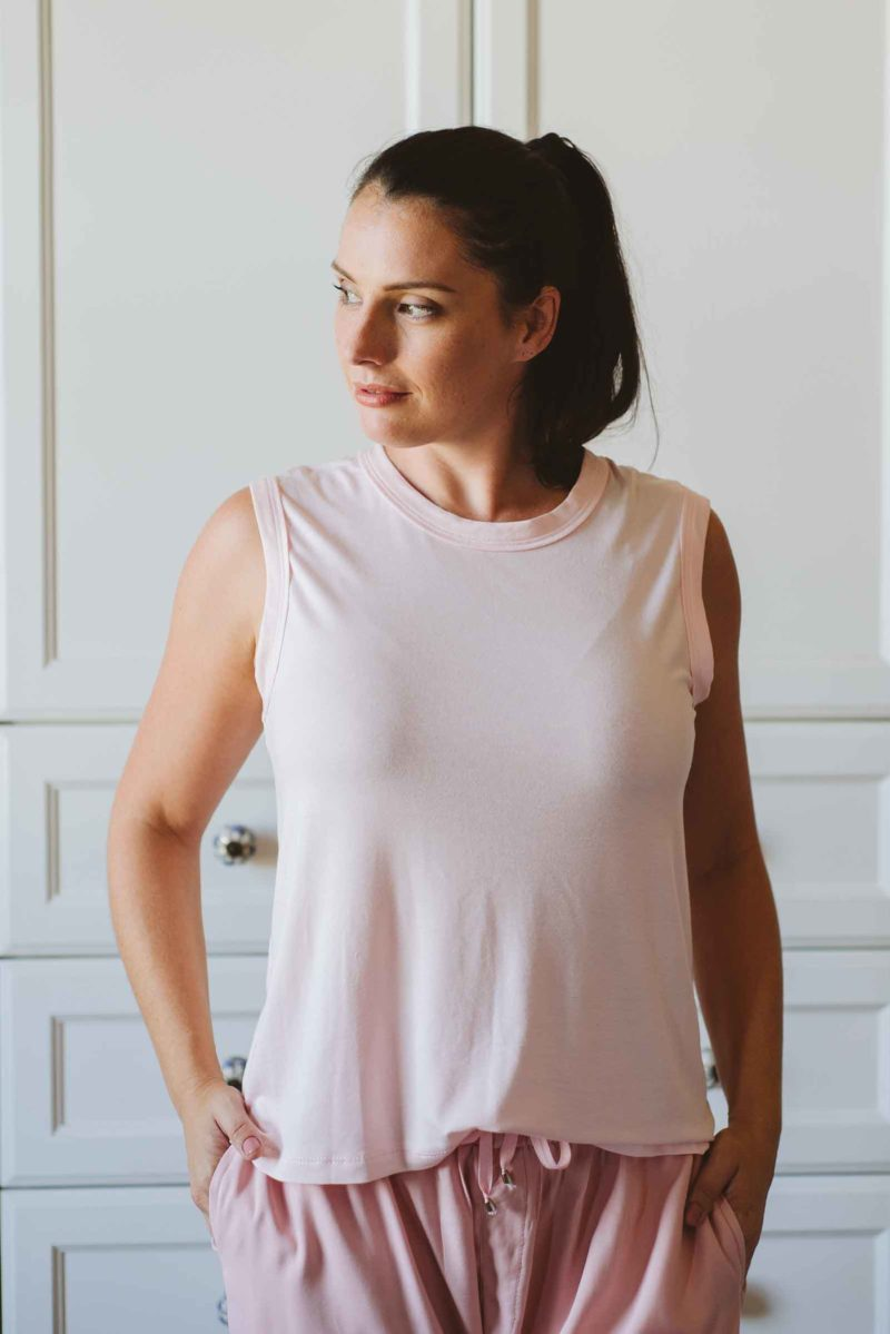 Sleeveless-T-Pink-loungewear-made-in-South-Africa-local-natural-fabric.
